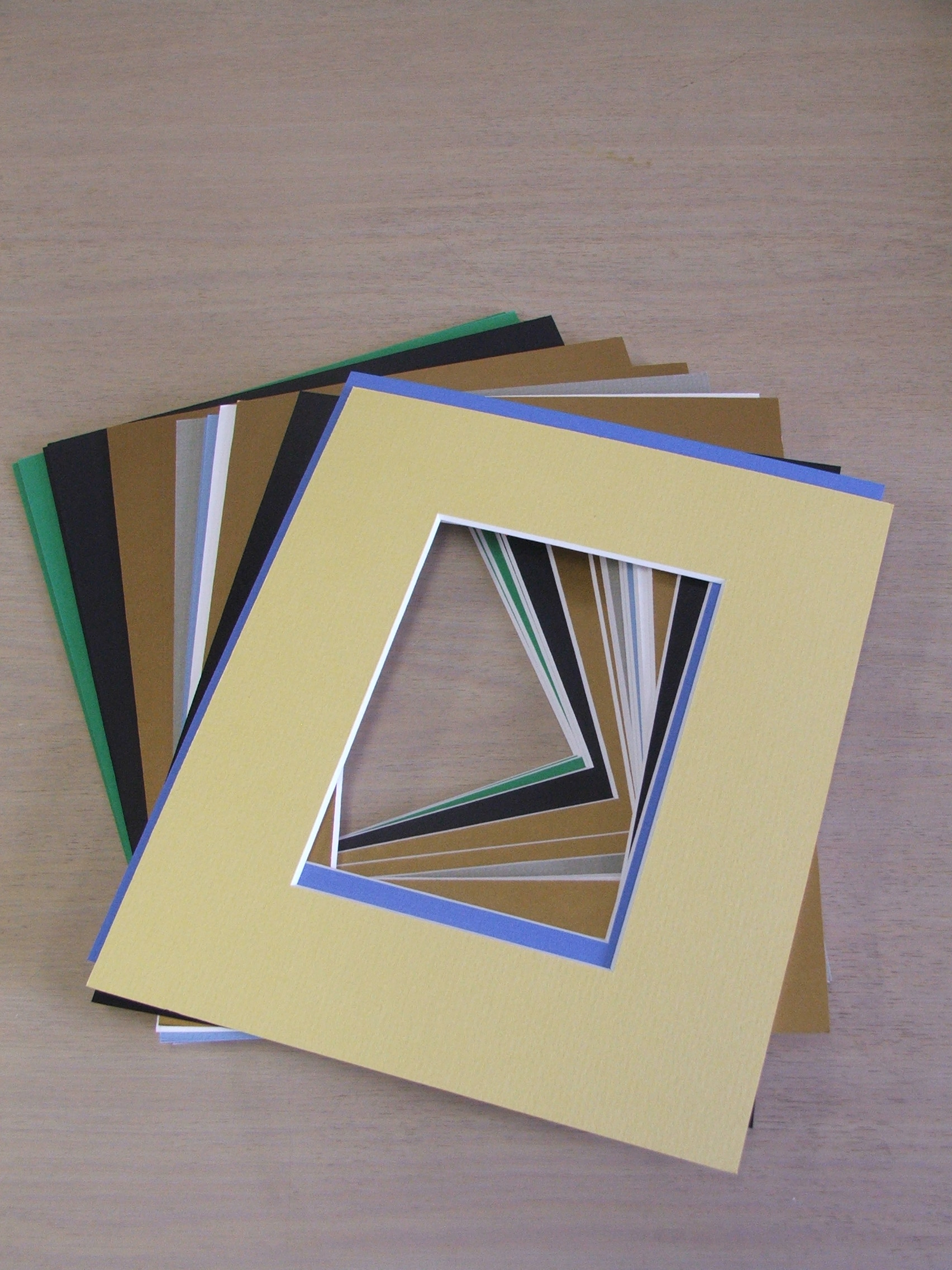 photo art mounts a4 delux opening 10 pack assorted colours
